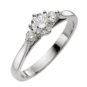 Platinum 60pt Diamond Three Stone Ring - Product number 8165688