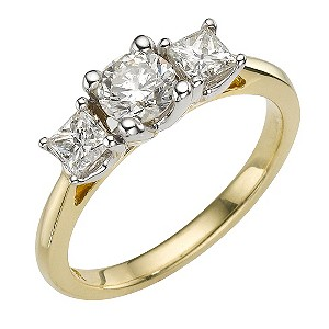 Forever Diamonds - 18ct Two Tone 1 Carat Diamond Ring