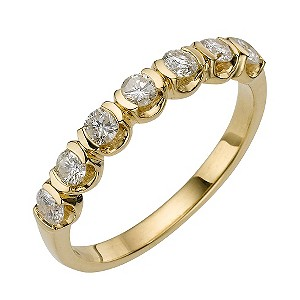 18ct Yellow Gold Half Carat Diamond Ring - Product number 8171203