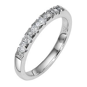 18ct White Gold Quarter Carat Diamond Set Ring