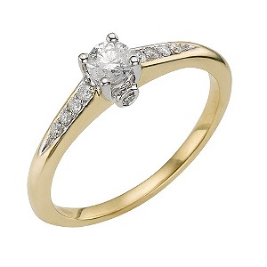 18ct Two Colour Gold Third Carat Diamond Ring