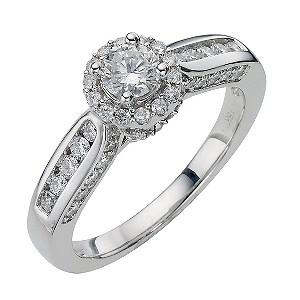 18ct White Gold 1 Carat Round Diamond