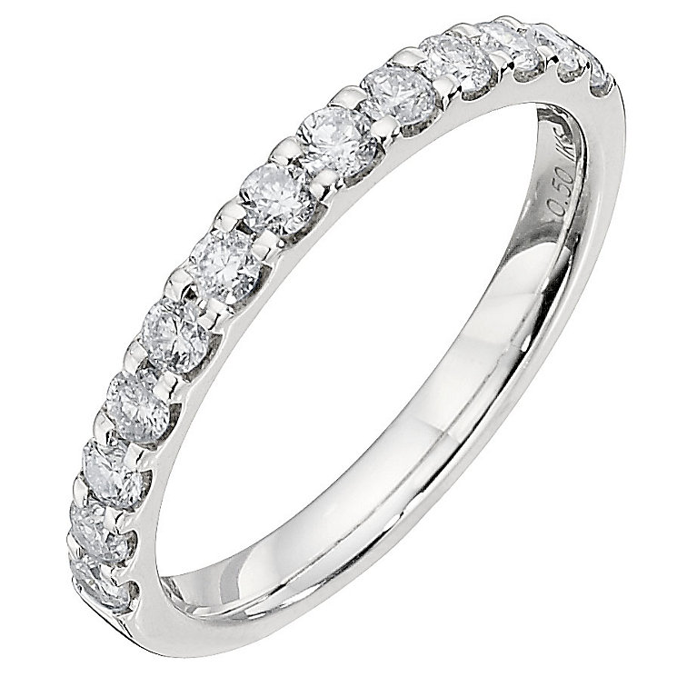 9ct white gold half carat eternity ring h samuel