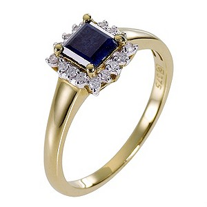 9ct Yellow Gold Diamond