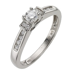 Platinum 40pt Diamond Cluster Ring