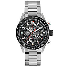 TAG Heuer Carrera Men's Stainless Steel Black Bracelet Watch - Product number 8180792