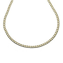 9ct gold solid curb chain - Product number 8181268