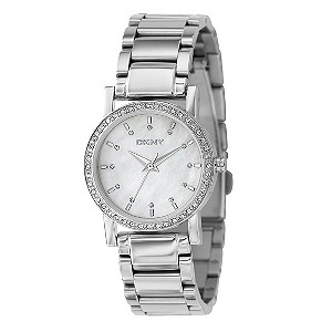 DKNY ladies' mother of pearl dial bracelet watch - Product number 8181667