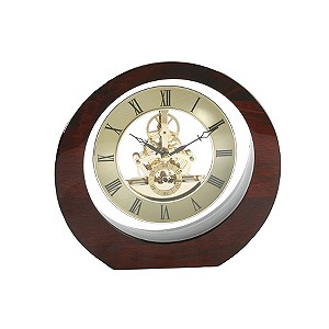Traditional Round Wood Mantlepiece Clock - Product number 8181918