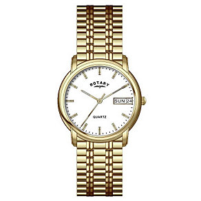 Rotary Men's Gold-Plated Expander Bracelet Watch - Product number 8186553