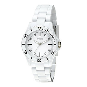 Oasis Ladies' White Bracelet Watch - Product number 8186561
