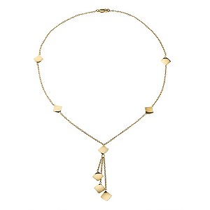 9ct Yellow Gold Diamond Shape Link Necklace
