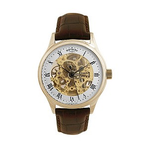 Rotary Men's Gold-Plated Skeleton Watch - Product number 8187096