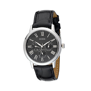 Guess Men's Wafer Black Strap Watch - Product number 8187533