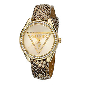 Guess Ladies' Mini Triangle Gold-Plated Watch - Product number 8187754