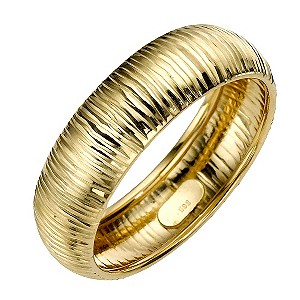 9ct Yellow Gold Groove Ring