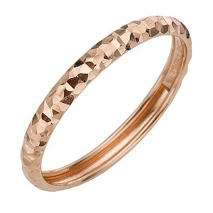 9ct Rose Gold Diamond Cut Small Fancy Ring