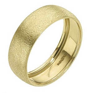 9ct Yellow Gold Matt Ring