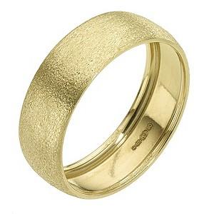 9ct Yellow Gold Matt Ring