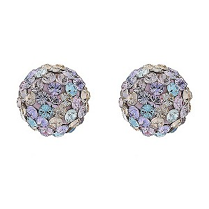 Sterling Silver Multi Coloured Crystal Stud Earrings - Product number 8188955