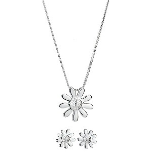 Sterling Silver Daisy Jewellery Set - Product number 8189277