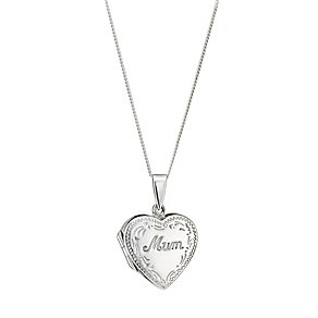 Sterling Silver Mum Locket - Product number 8189390