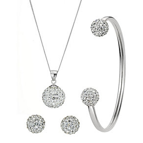 Sterling Silver & Crystal Jewellery Set - Product number 8190658