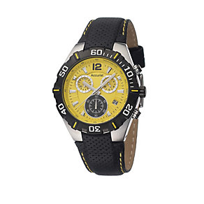 Accurist Men's Yellow Dial Sports Watch - Product number 8190984