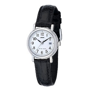 Lorus Ladies' Black Strap Watch - Product number 8191042