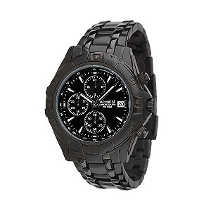 Accurist Men's Black Chronograph Watch - Product number 8191840