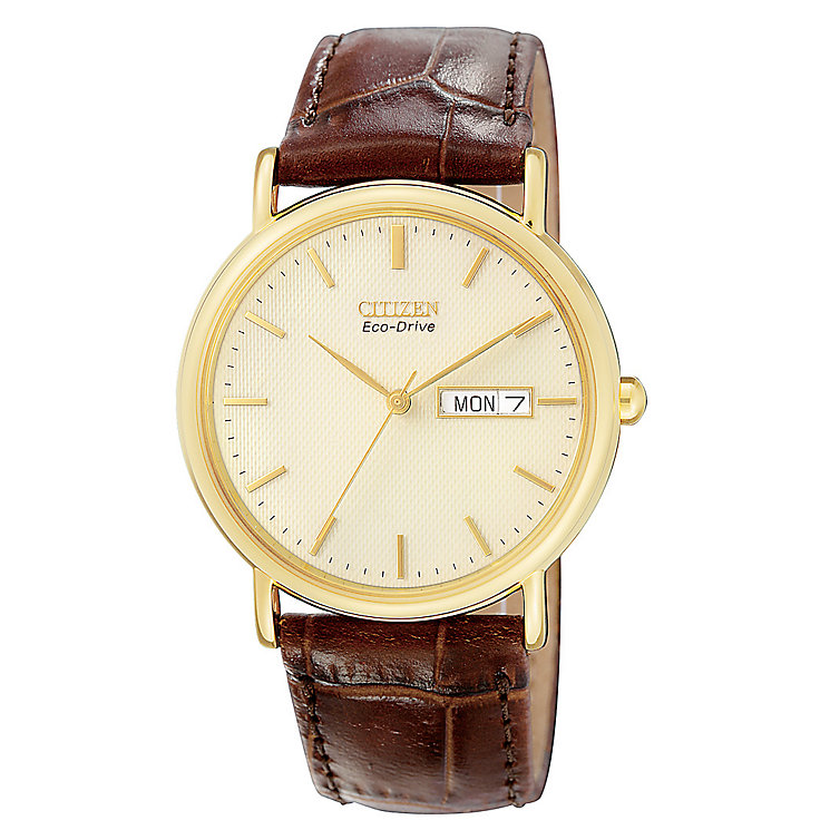 Citizen Men's Gold-Plated eco-Drive Watch - Product number 8191964