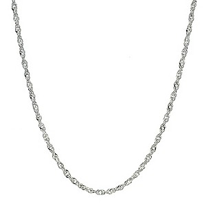 Sterling Silver Singapore Necklace 16