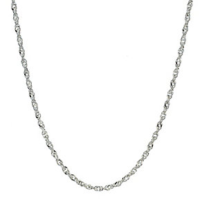 "Sterling Silver Singapore Necklace 16"" - Product number 8192146"