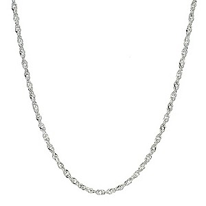 Sterling Silver Singapore Necklace 20