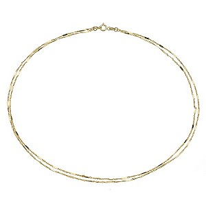 9ct Yellow Gold Double Strand Necklace