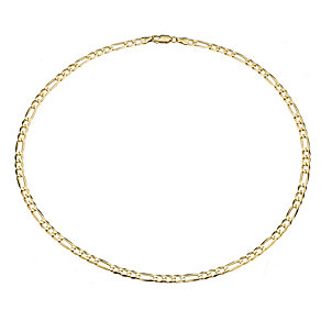 9ct Yellow Gold Figaro Necklace - Product number 8192375