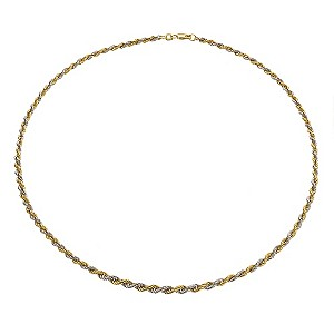 9ct Two Tone Gold Necklace