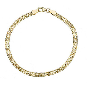 9ct Yellow Gold Bar & Fancy Link Bracelet - Product number 8192782