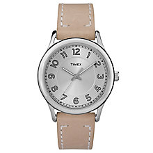 Timex Ladies' Heritage Sand-Coloured Leather Strap Watch - Product number 8193312