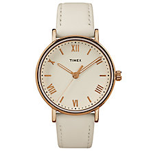 Timex Ladies' Southview White Leather Strap Watch - Product number 8193398