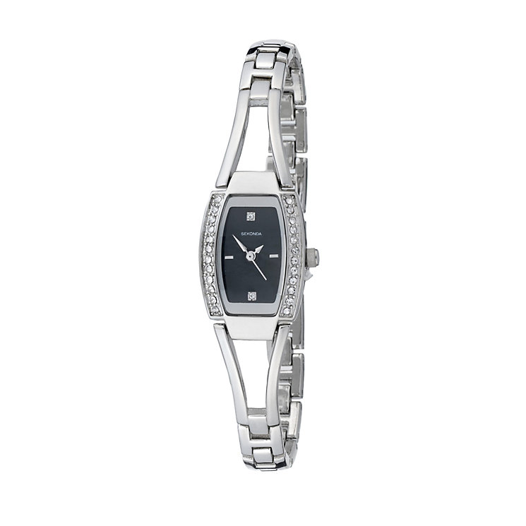 Sekonda Ladies' Stone Set Semi Bangle Watch - Product number 8193495