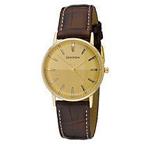 Sekonda Men's Gold-Plated Strap Watch - Product number 8193541