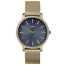 Timex Ladies' Slim Starlight Gold Tone Mesh Bracelet Watch - Product number 8193754