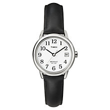 Timex Ladies' Black Leather Strap Watch - Product number 8193851
