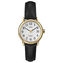 Timex Ladies' Black Leather Strap Watch - Product number 8193878