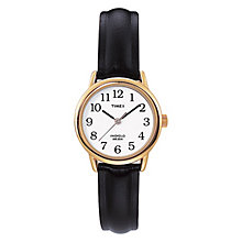 Timex Ladies' Black Leather Strap Watch - Product number 8193894