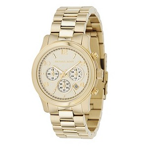 Michael Kors ladies' gold-plated chronograph watch - Product number 8194017