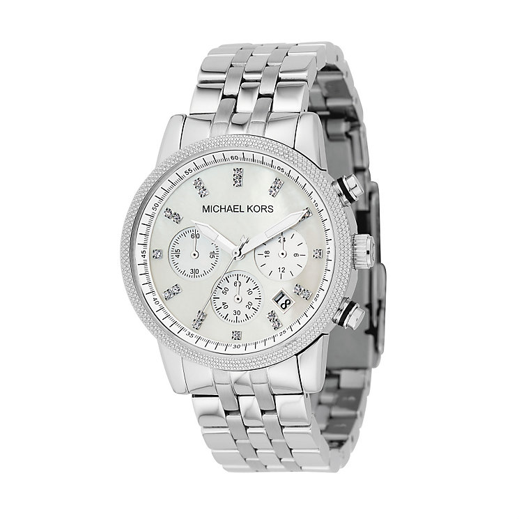 Michael Kors Ladies' Stainless Steel Chronograph Watch - Product number 8194092