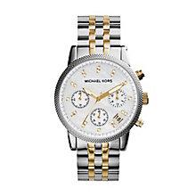 Michael Kors Ladies' Two Colour Bracelet Chronograph Watch - Product number 8194106