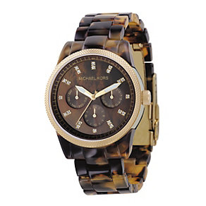 Michael Kors ladies' tortoiseshell effect bracelet watch - Product number 8194114